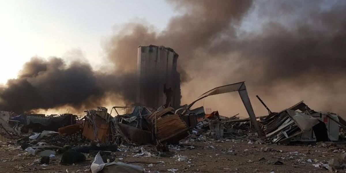 ¡Impactante! Momento de la fuerte explosión de almacén en Beirut