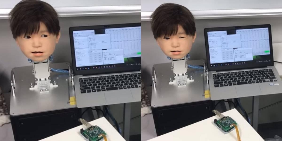 Conoce a Affetto, el 'niño robot' que puede sentir dolor