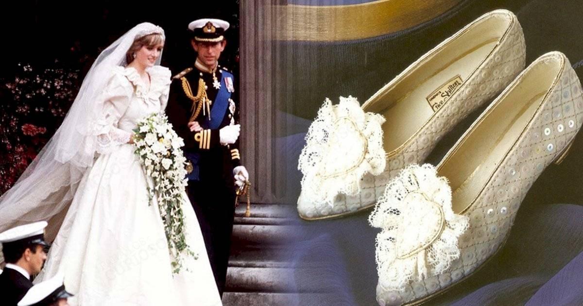 Los zapatos de la princesa diana fueron decorados con perlas