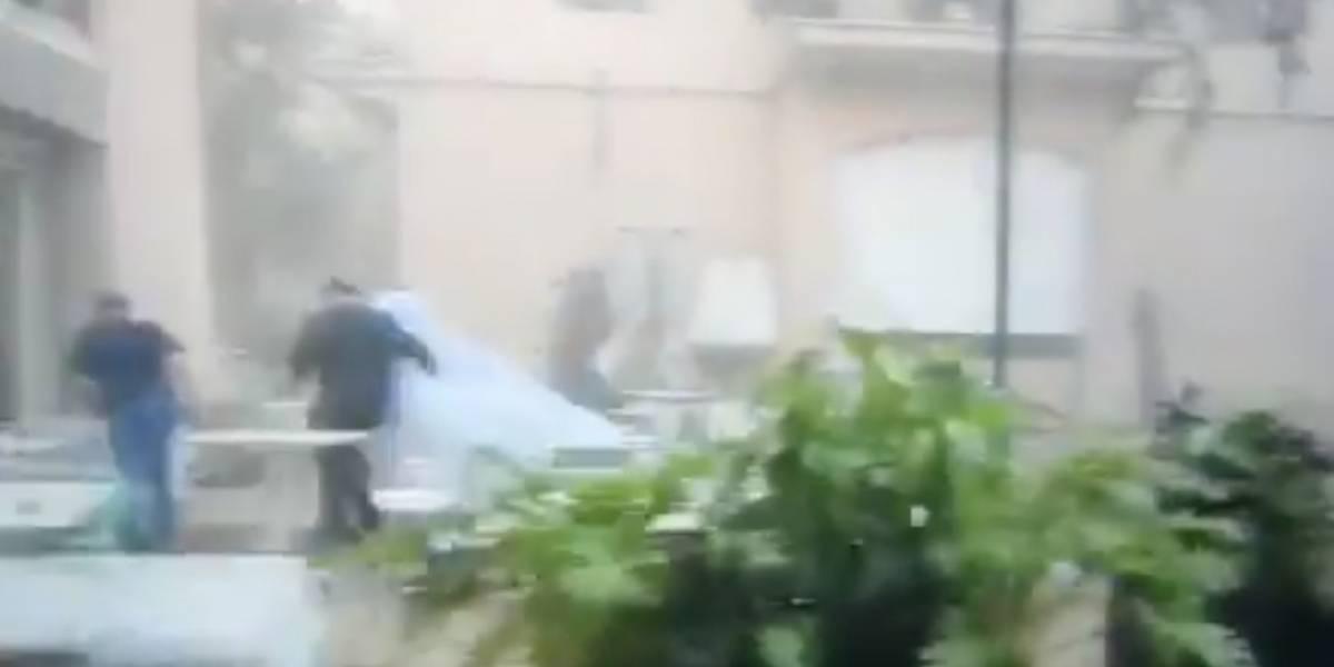 Explosión en Beirut interrumpió sesión de fotos de una novia (video)