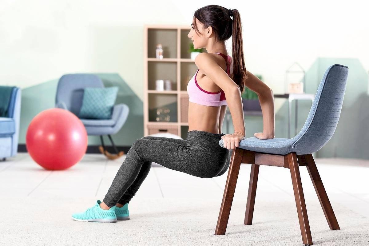La silla es una excelente aliada para tonificar tus brazos
