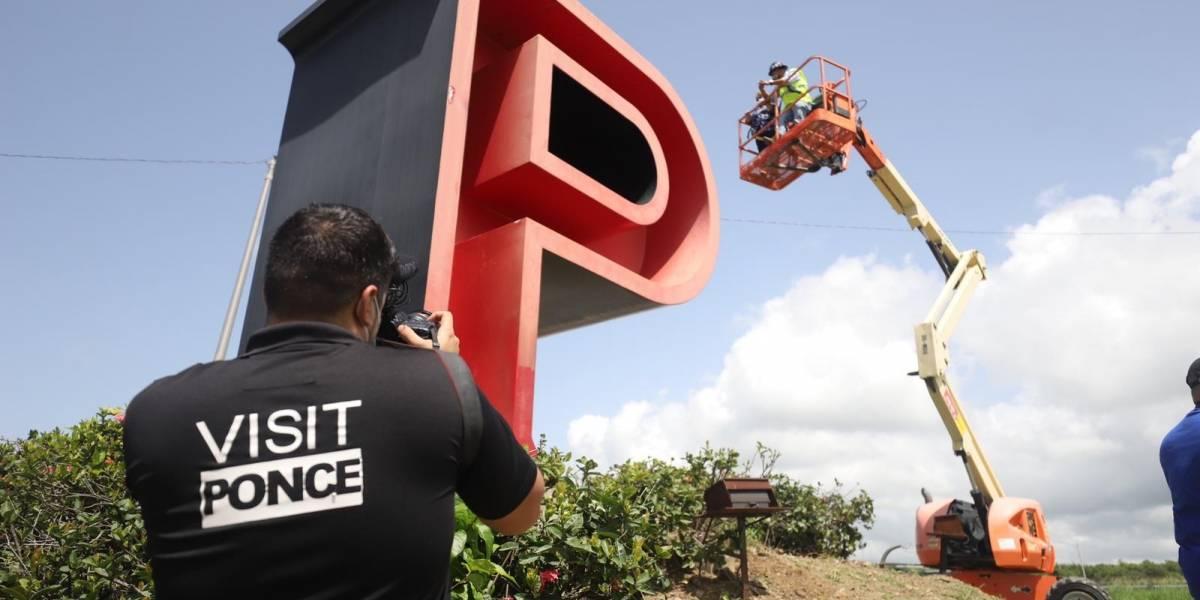 Comienzan los trabajos de restauración de las Letras de Ponce