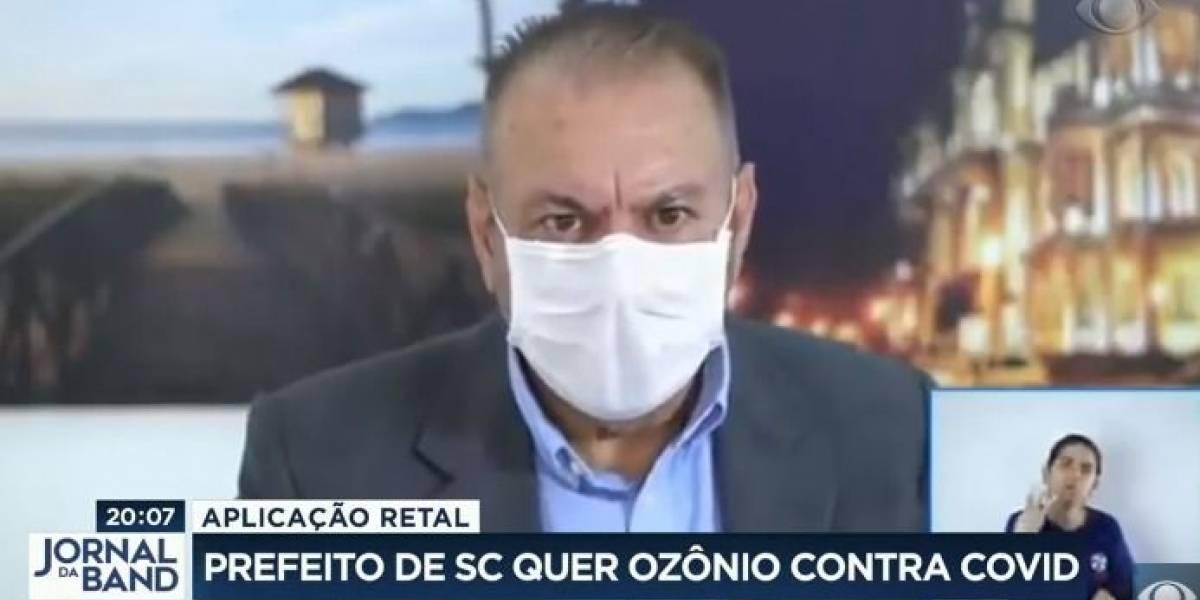 Prefeito em Santa Catarina sugere uso de ozônio 'via retal' contra covid-19