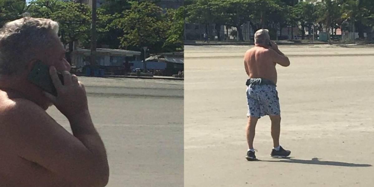 Desembargador Eduardo Siqueira é novamente flagrado sem máscara em Santos