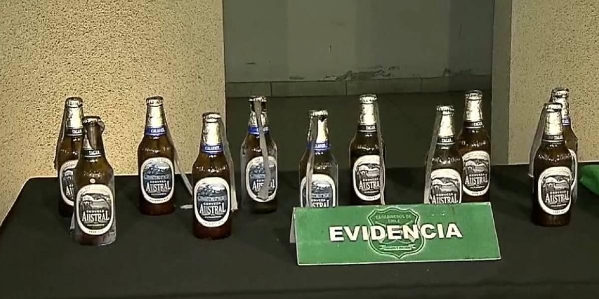 Las dudas que despertaron las bombas molotov en botellas de cerveza Austral Calafate
