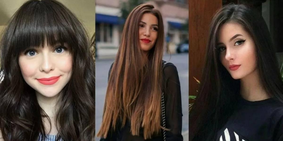 4 cortes de cabelo longo que favorecem as mulheres com o rosto redondo
