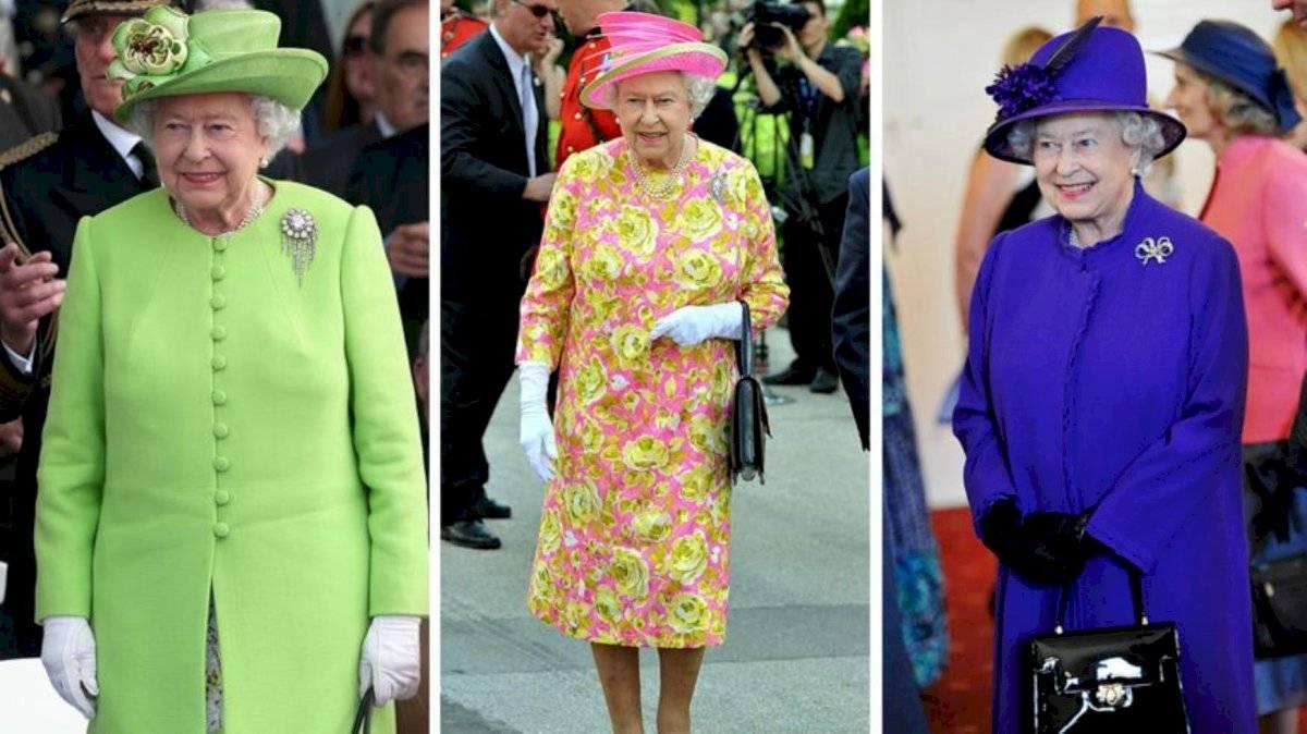 La reina Isabel siempre lleva colores llamativos para destacarse entre la multitud