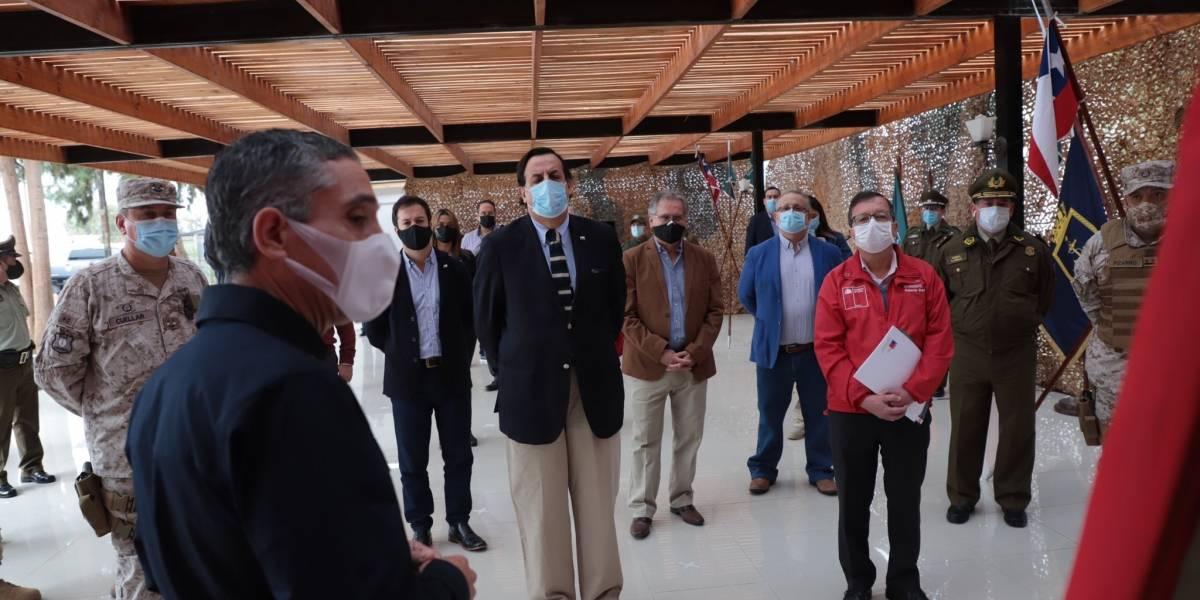 """Ministro Pérez viajó a Arica por Plan Frontera Segura: """"El problema de la migración es creciente"""""""