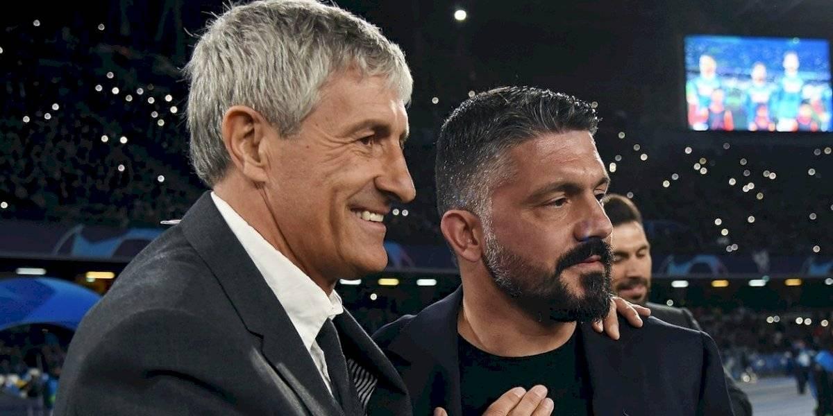 Gennaro Gattuso se declara fan de Quique Setién tras ser eliminado
