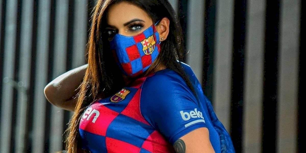 Suzy Cortez celebra triunfo del Barça con sexy video