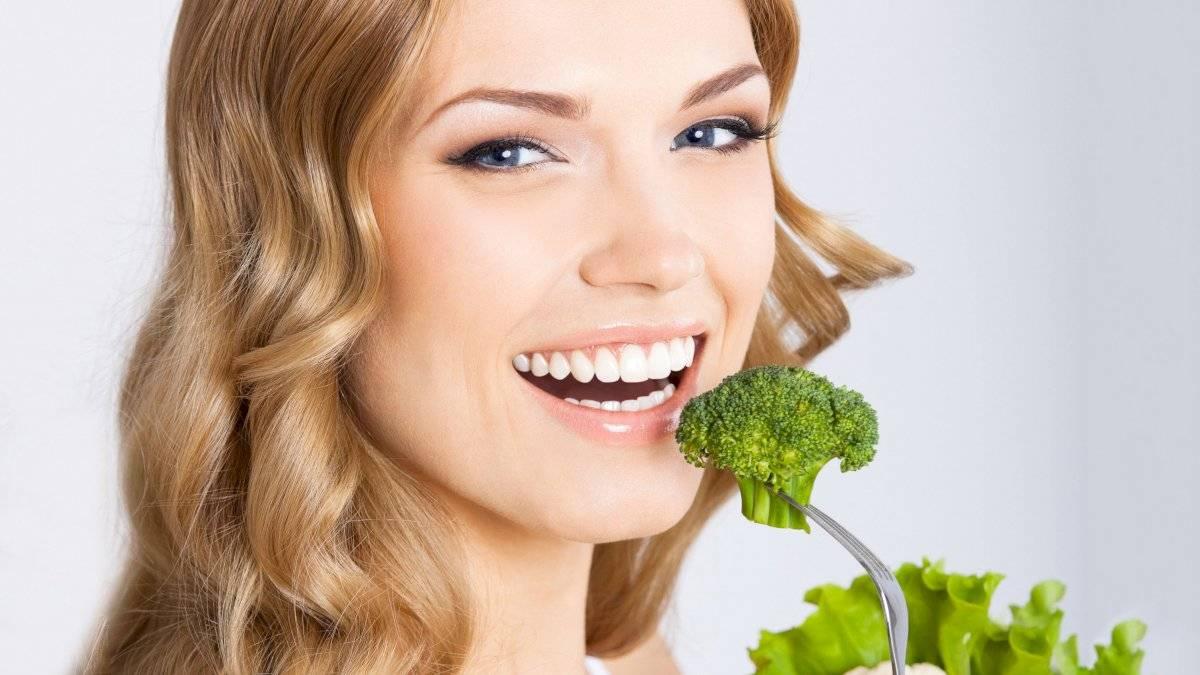 Comer vegetales verdes