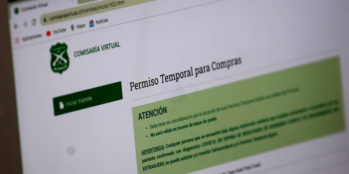 Último aviso: Extienden plazo para registrarse en sitio de permisos Comisaría Virtual