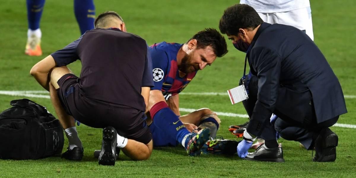 Nuevo parte médico de Messi tras la patada de Koulibaly ¿Juega ante el Bayern?