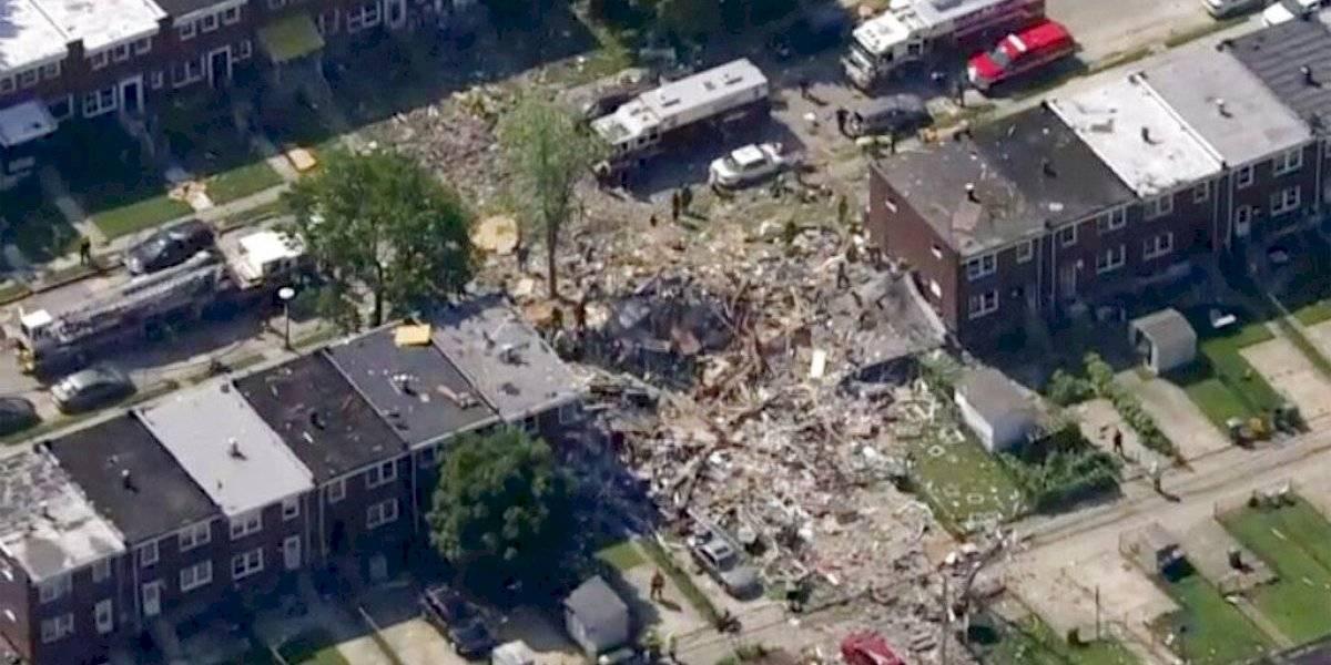 Explosión de gas pulveriza varias casas en Baltimore
