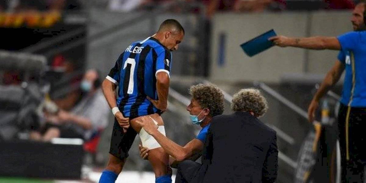 Inter de Milán clasifica a semifinales de Europa League y lamenta la lesión de Alexis Sánchez