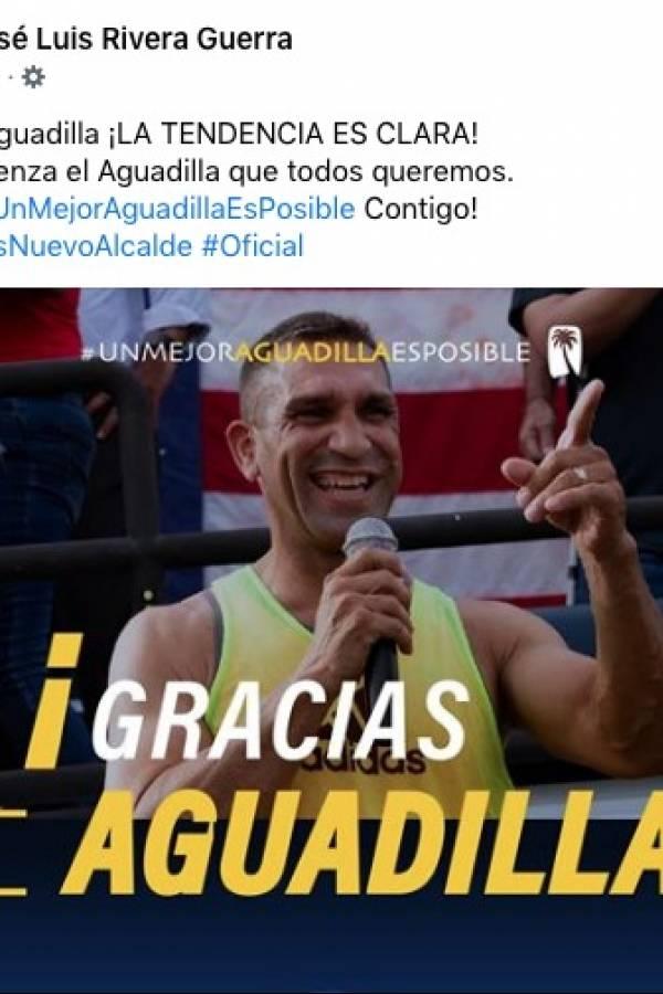 Rivera Guerra se declara ganador en Aguadilla