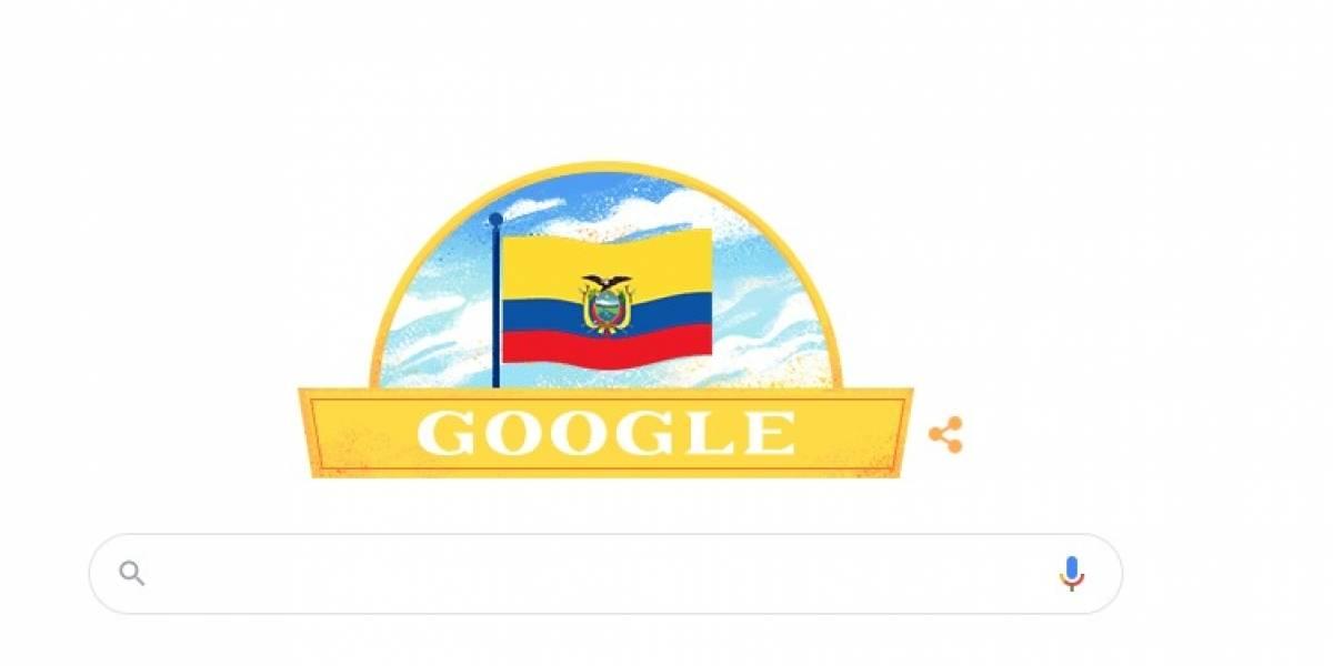 10 de agosto: Google dedica su 'doodle' a Ecuador por el Día de Independencia
