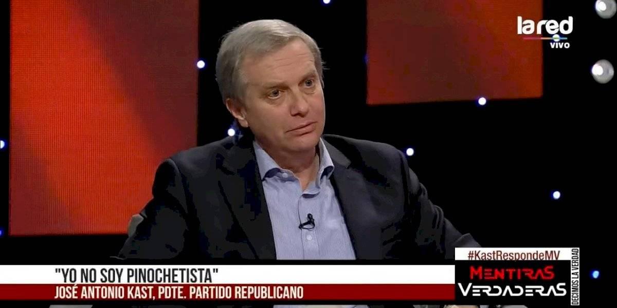 """José Antonio Kast: """"Yo no soy pinochetista, pero sí valoro todo lo que hizo"""""""