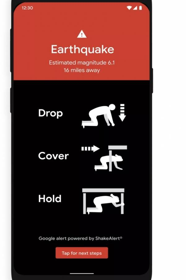 android terremotos