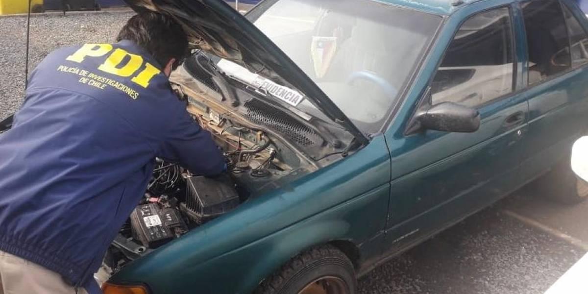 Hombre fue detenido por la PDI tras vender auto robado al dueño