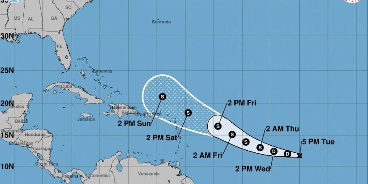 Se forma la depresión tropical once y se proyecta que pasará al norte de Puerto Rico