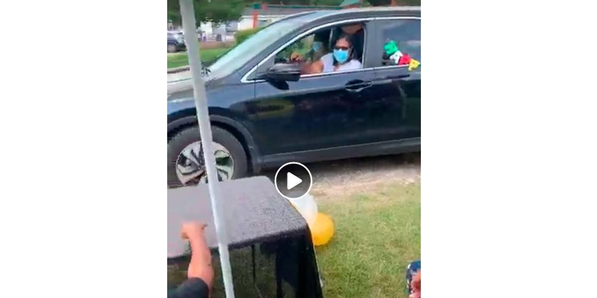 Vídeo: Vovó com 49 trinetos e 1 tataraneto comemora 100 anos em festa drive-thru