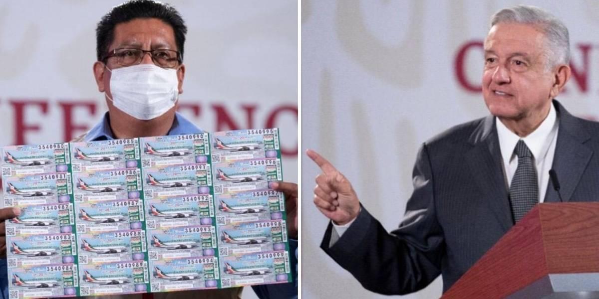 Lanzan 'SOS' por bajas ventas en la rifa del avión presidencial