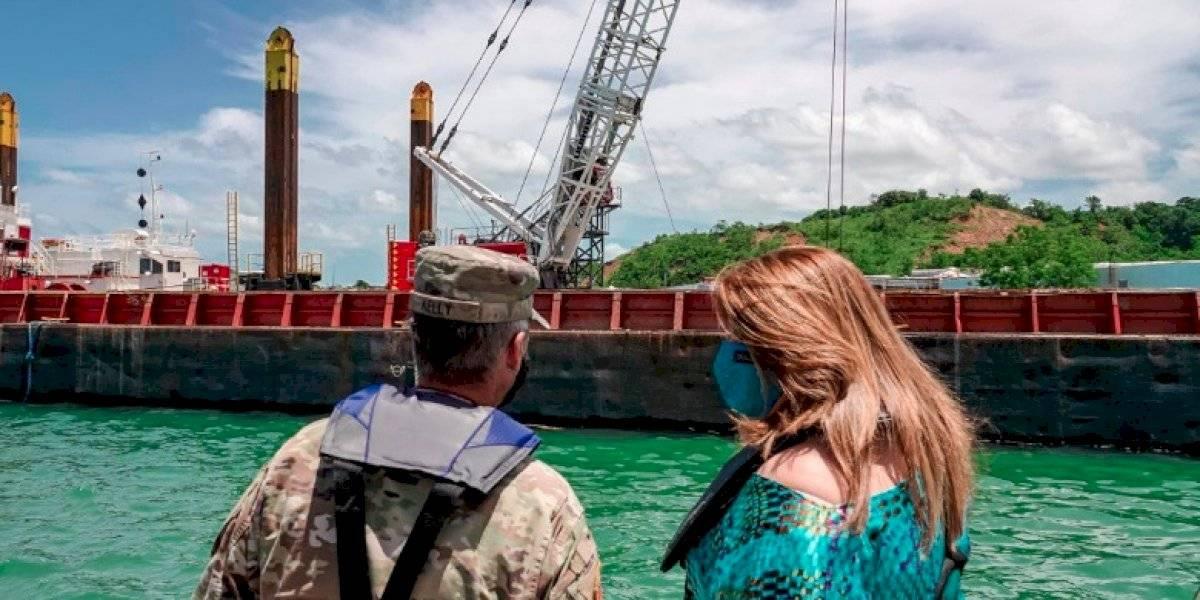 Inicia el dragado del Puerto de Mayagüez Sila María Calderón