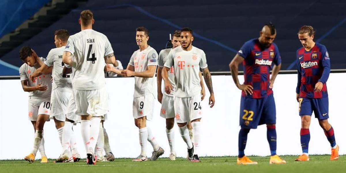 2-8. El Bayern humilla al Barcelona