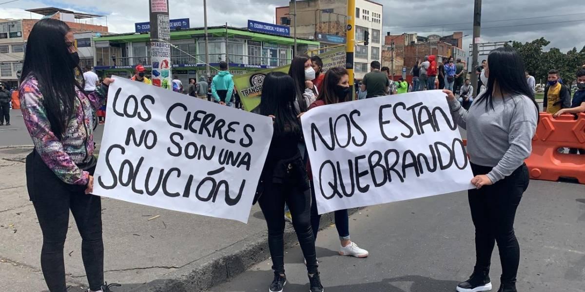 Comerciantes y restaurantes culpan a la Alcaldía por necesitar una nueva cuarentena en Bogotá