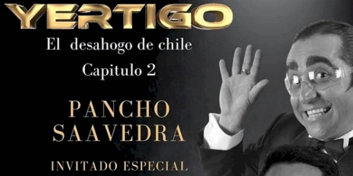 """""""Yértigo"""" se quedó sin su invitado para el segundo capítulo: """"A Pancho Saavedra lo bajó Canal 13"""""""