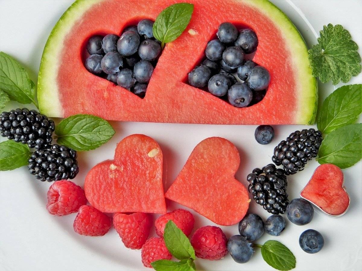 Frutas: Sandía.
