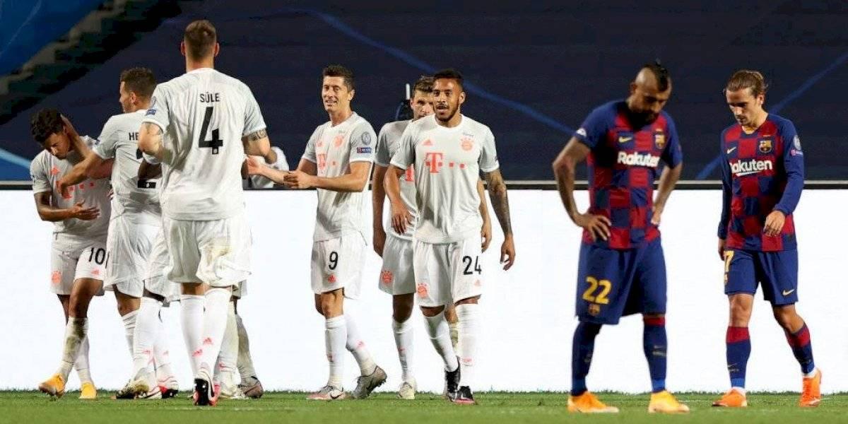 Vergüenza histórica: Bayern humilla a Barcelona con una goleada 8-2 y otra vez se rompe el sueño de Arturo Vidal en la Champions