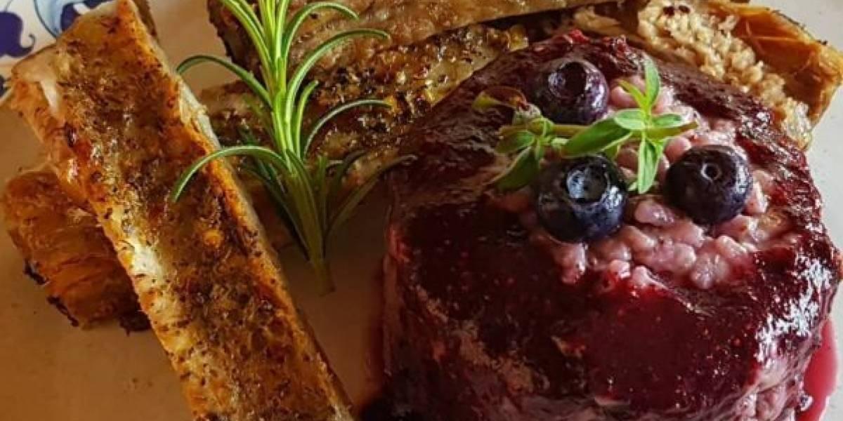 Gostinho da Itália: apenda a fazer um risoto de blueberry