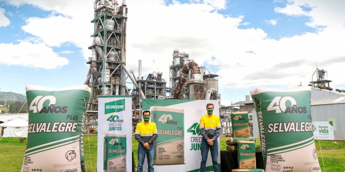 Cemento Selvalegre cumple cuatro décadas edificando al Ecuador