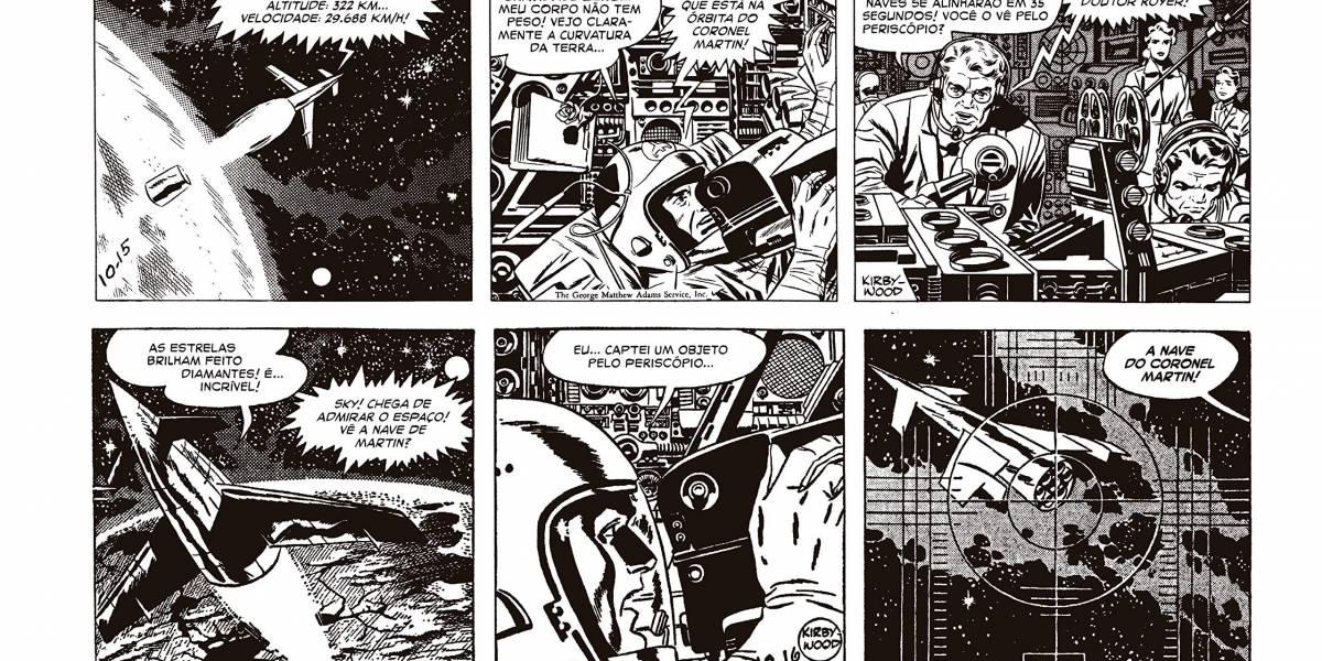 'Sky Masters'.  HQ traz Jack Kirby e Wally Wallace juntos em história da Guerra Fria