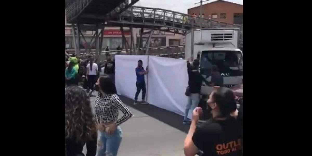 Se registra bloqueo de vías por trabajadores de outlets en zona industrial en Bogotá