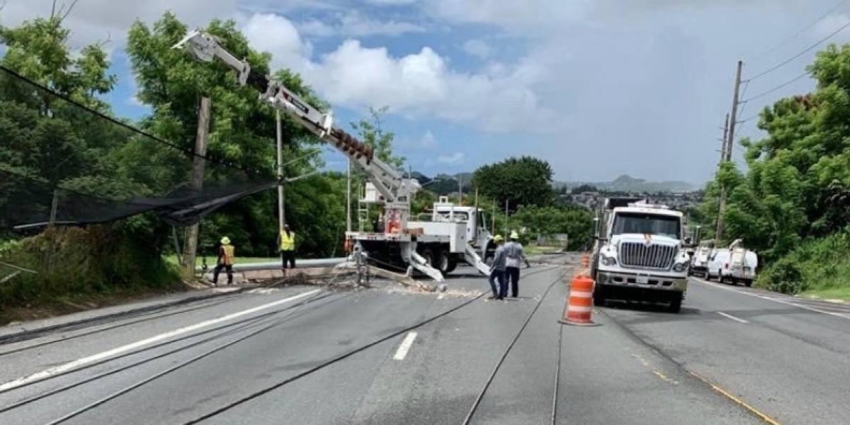AEE asegura mayoría de abonados afectados por accidente en Bayamón ya tienen luz