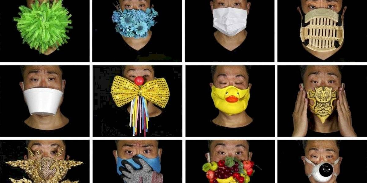 Mascarillas como protesta: el artista de Hong Kong que hace increíbles creaciones para la pandemia