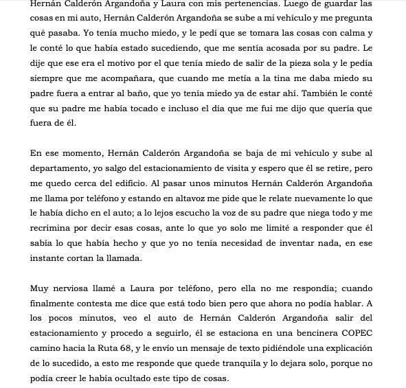 Trozo de querella contra Calderón