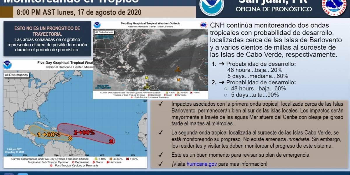 Aumenta a 90% la probabilidad de desarrollo de onda tropical