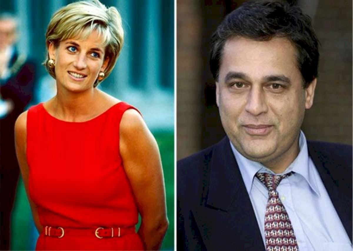 La princesa Diana (a la izquierda) y Hasnat Khan (a la derecha).