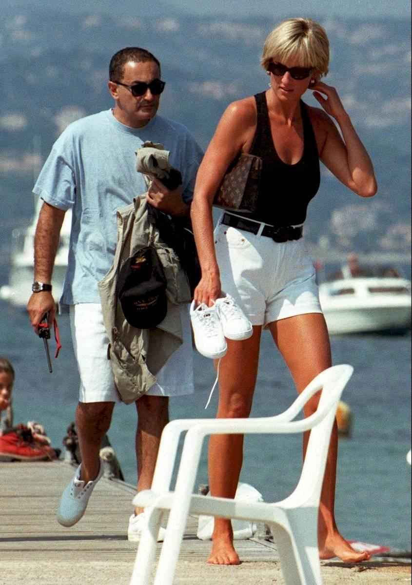 La princesa Diana junto a Dodi Al-Fayed