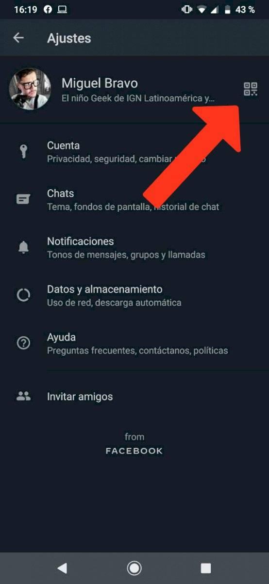 WhatsApp añadir contactos