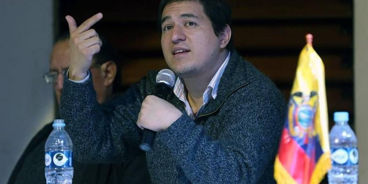 Andrés Arauz está empadronado y sufraga en México, confirmó la presidenta del CNE