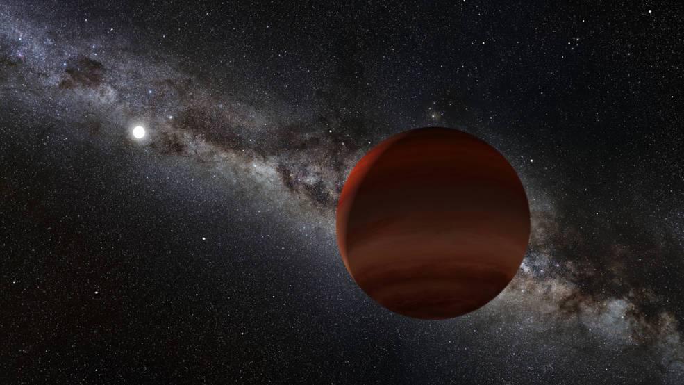 Enanas marrones, en una recreación de la NASA