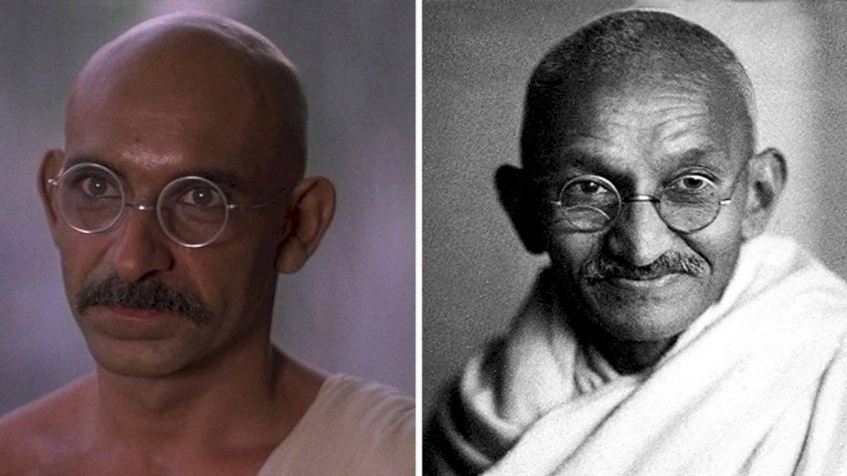Ben Kingsley idéntico a Mahatma Gandhi en