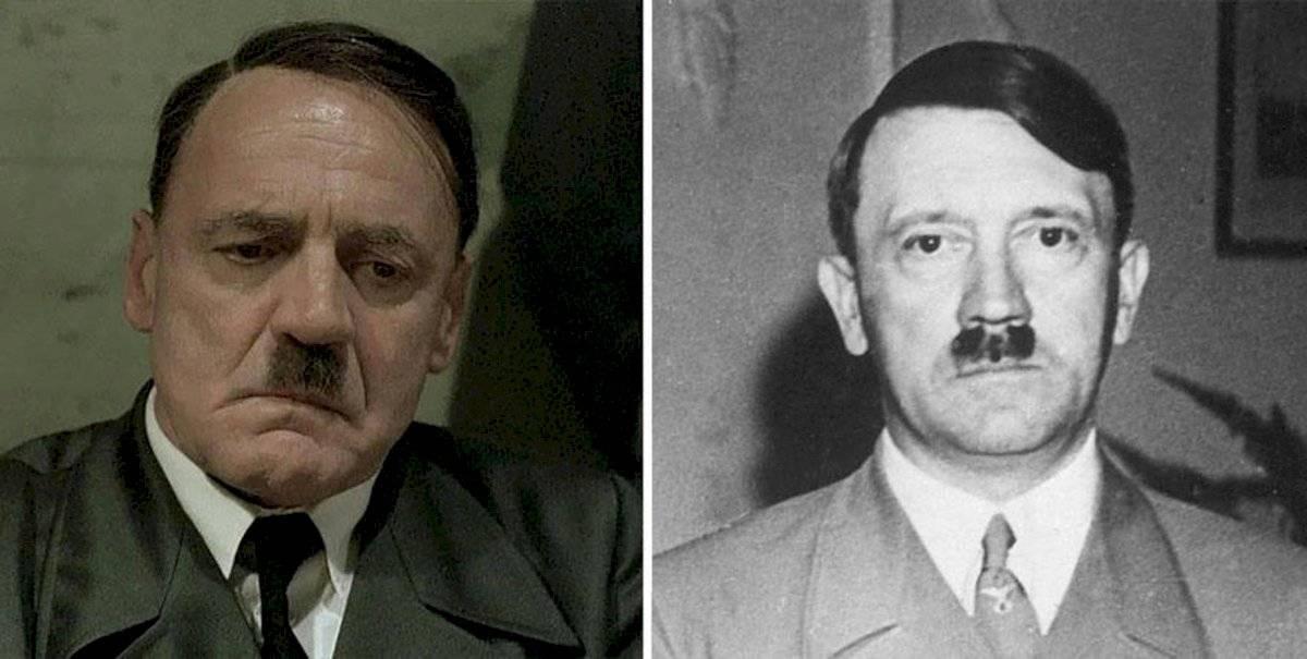 Bruno Ganz como Adolf Hitler
