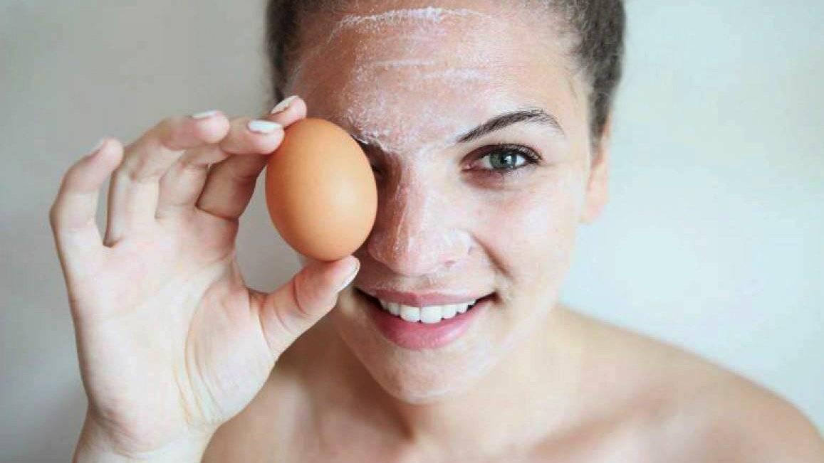 Mascarilla de claras de huevo