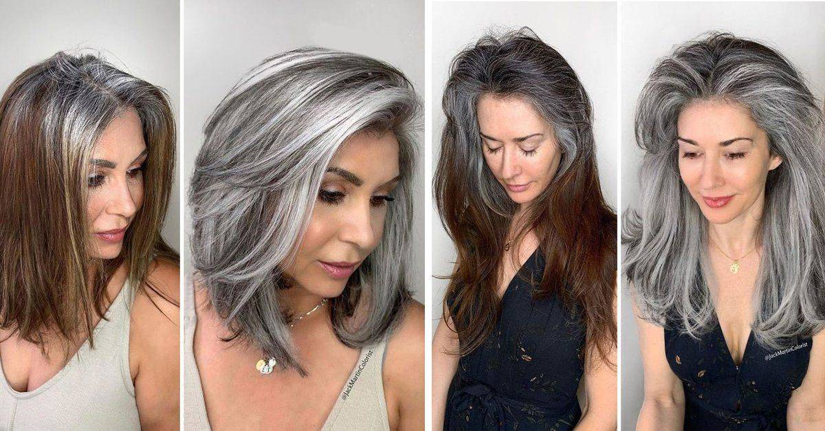 El tipo de cabello influye en la rapidez con que notemos las canas.